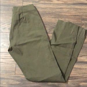 Pants - Green skinny trousers